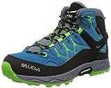 Salewa JR Alp Trainer Mid Gore-TEX Trekking-& Wanderstiefel, Blue Danube/Fluo Green, 32 EU