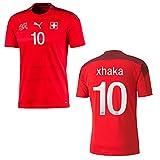 PUMA Schweiz Trikot Home Herren Euro 2020 - XHAKA 10, Größe:M
