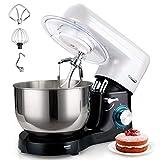 Küchenmaschine, Elegant Life 1500W Auto-Knetmaschine Rührgeräte mit 5.5L Edelstahl Rührschüssel, 6 Geschwindigkeit Teigmaschine,...