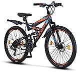 Licorne Bike Strong D Premium Mountainbike in 26 Zoll - Fahrrad für Jungen, Mädchen, Damen und Herren - Scheibenbremse vorne und...