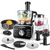 Küchenmaschine Multifunktions TOPCHEF, Standmixer, Mixer, Zerkleinerer, Entsafter, Zitruspresse, Multi Mixer mit Knethaken, Häcksler,...