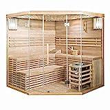 Home Deluxe - Traditionelle Sauna - Skyline XL Big - Holz: Hemlocktanne - Maße: 200 x 200 x 210 cm - inkl. komplettem Zubehör | Dampfsauna...