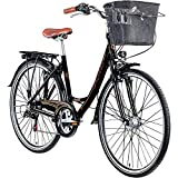 Galano 28 Zoll Prelude Citybike Stadt Fahrrad Licht 7 Gang Farbe:Schwarz