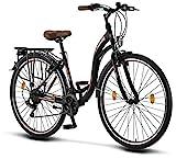 Licorne Bike Stella Premium City Bike in 28 Zoll - Fahrrad für Mädchen, Jungen, Herren und Damen - 21 Gang-Schaltung - Hollandfahrrad -...