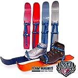 TEAM MAGNUS Ski für Technik, Spiel u Spaß - Flexibles, hochwertiges Paar Tundra Wolf Ski ab Gr 24 bis Erwachsenen
