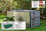 GFP Christina Aluminium Hochbeet für den Garten - 195x77x77cm, formstabil und witterungsbeständig auch bei Hagel mit...