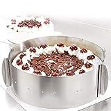 4smile Tortenring verstellbar – Edelstahl, 8,5 cm hoch – Made in Germany Tortenring, Klammern zum Fixieren – robuster...