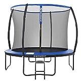 SONGMICS Trampolin Ø 305 cm, rundes Gartentrampolin mit Sicherheitsnetz, mit Leiter und gepolsterten Stangen, Sicherheitsabdeckung, TÜV...