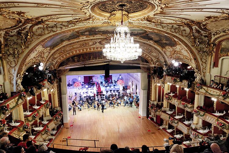 Die Oper Graz bei der Generalprobe zur Opernredoute