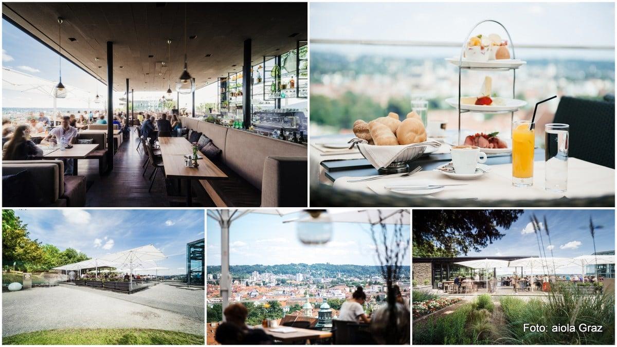 Frühstückim Aiola Upstairs - Frühstück für Zwei und wundervoller Ausblick über Graz, Fassade des Lokals